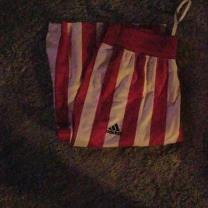 adidas Other - IU Adidas button up candy stripe pants